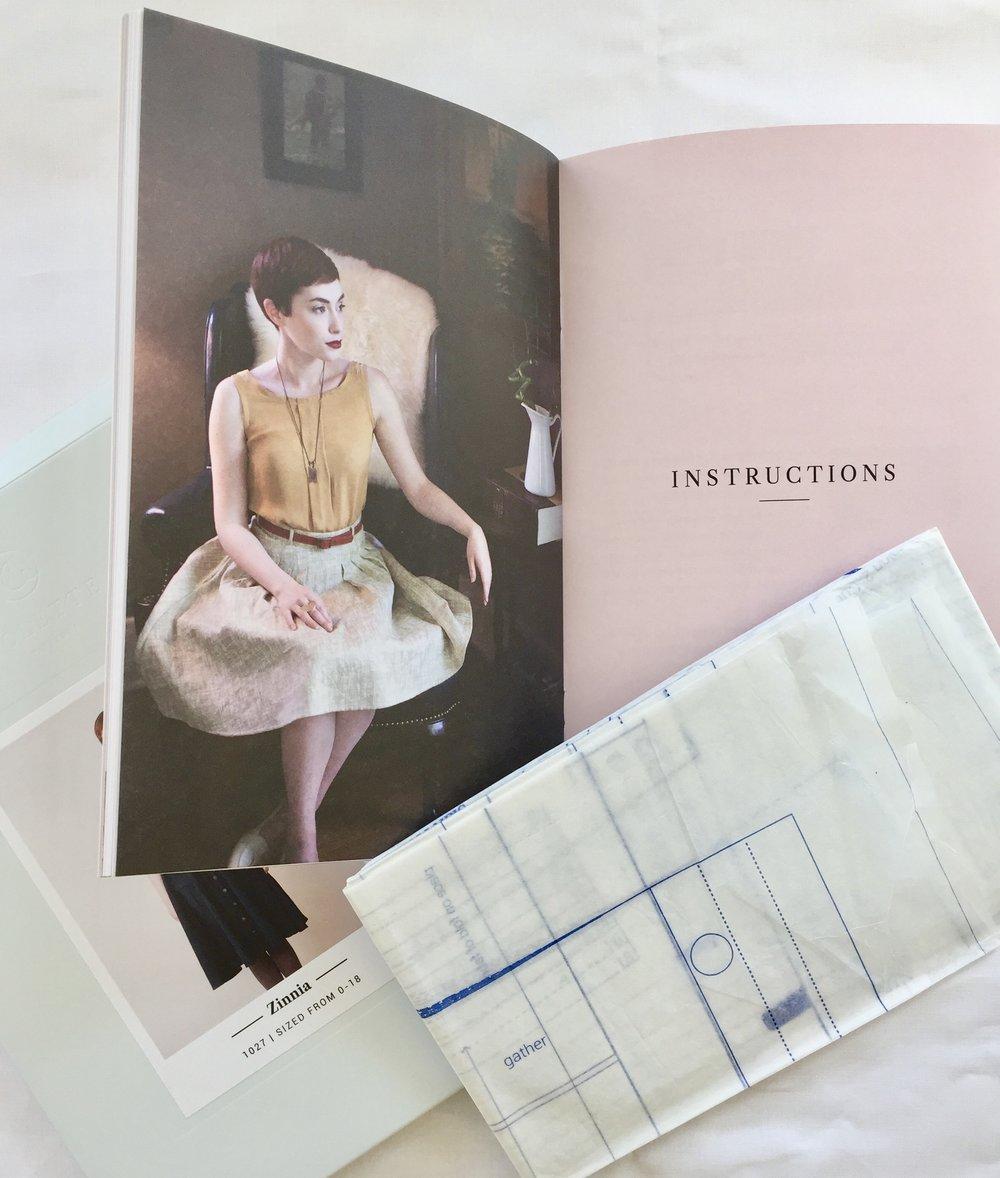 Zinnia skirt sewing pattern