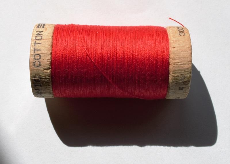 red organic cotton thread