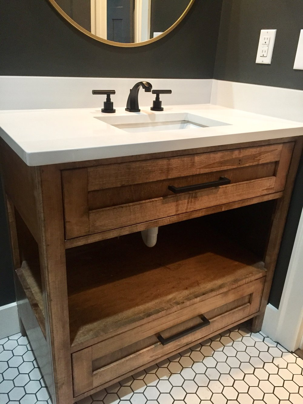 Walnut Stacked Vanity