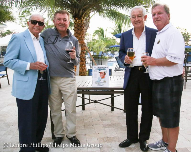 Bob Toski (left) with Wellington National Golf Club Owners   Doug Marty (center left) and Chip Smith (right)