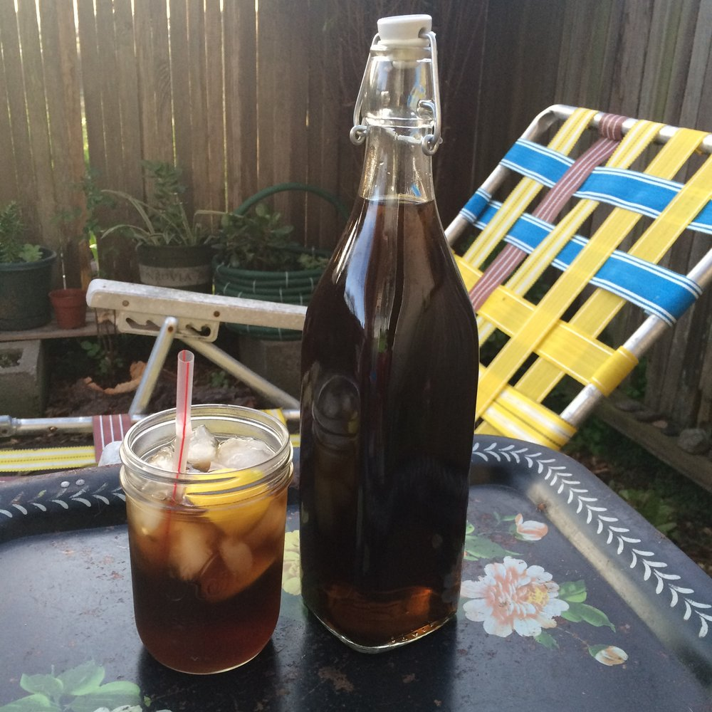 Ganja Spiced Rum - 1 liter dark rum1/4 c. ground cannabis1 whole cinnamon stick; 5-6 cardamom pods4-5 whole star anise; 4-5 whole cloves1 t. vanillaShown here with coke & lemon on the rocks.