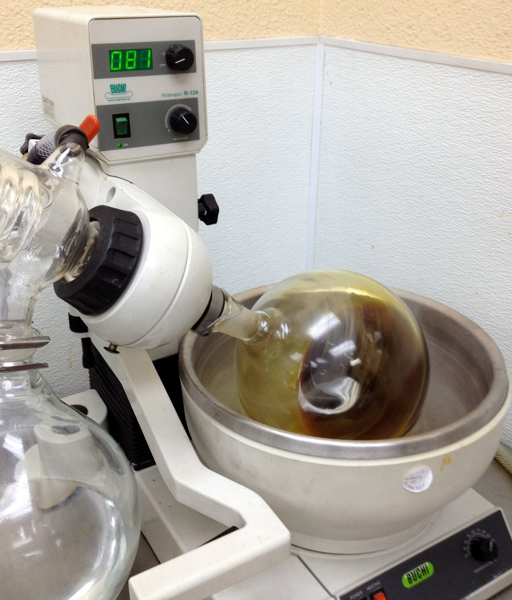 Cannabis oil reducing at Organa labs, Denver, Colorado  Photo: Sharon Letts