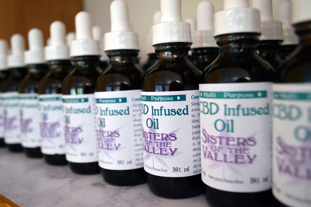 - Sisters of the Valley make tinctures and salve from high CBD grown from cannabis.