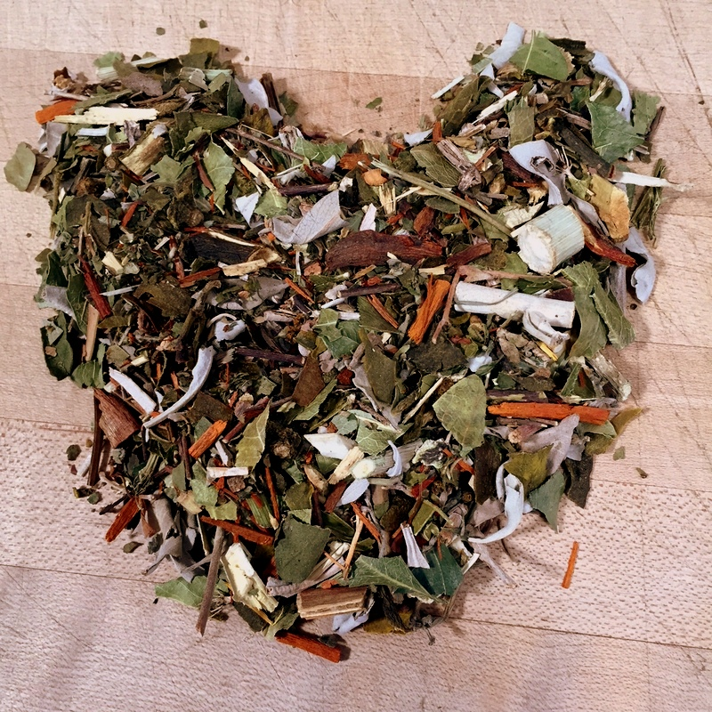 Sleeping Mix - This combination of plants made into a concentrate via an alcohol reduction is an excellent homemade sleeping pill.Magnolia bark, orange flower, valerian root, ipomea, passion flowers.
