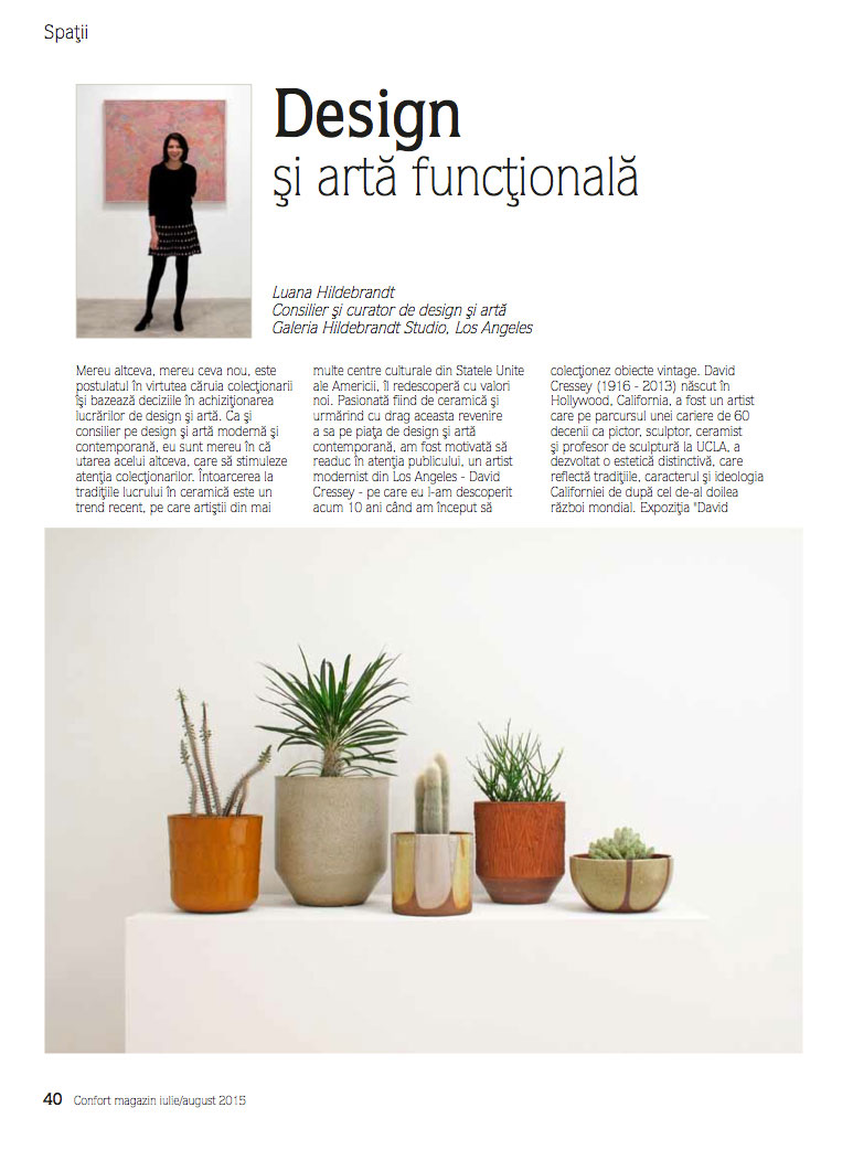 Hildebrandt Studio 'Landscaping California' exhibition published in   Confort Magazine
