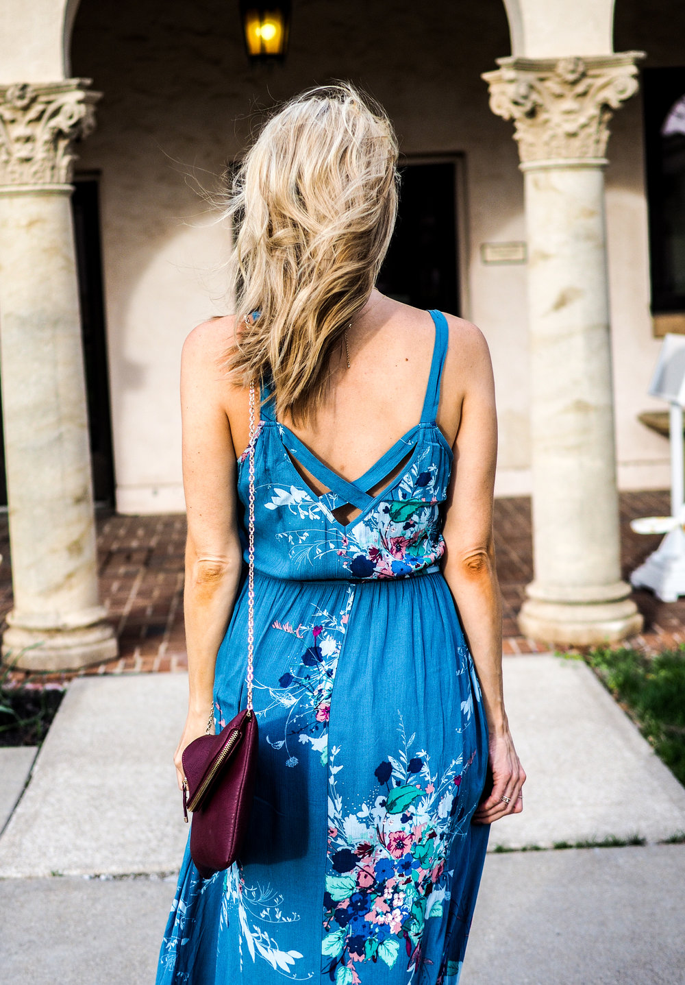 blue floral dress maternity