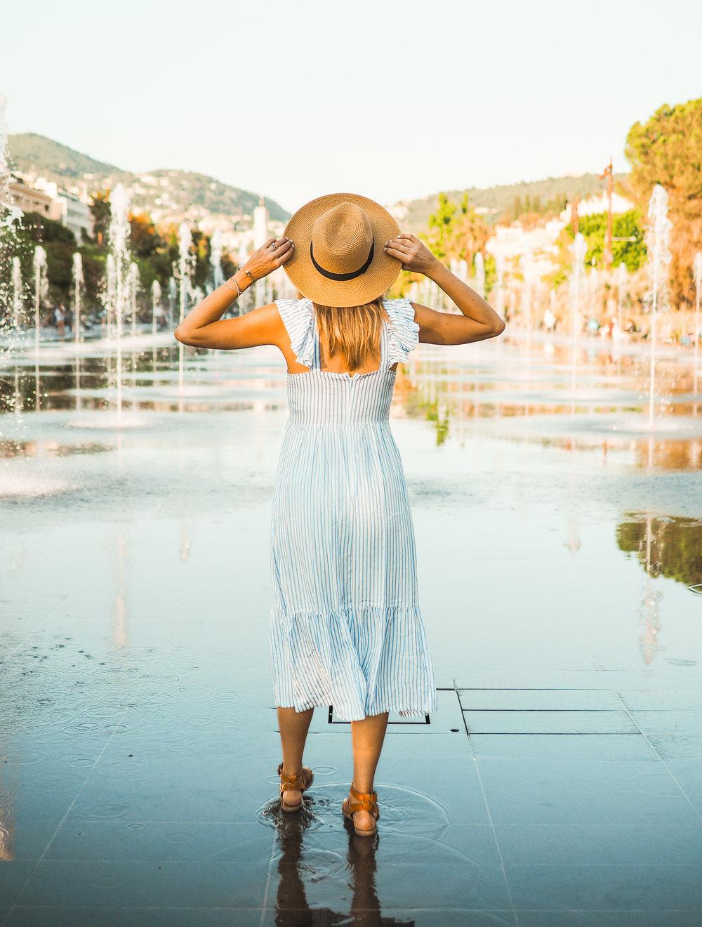 pinstriped summer dress