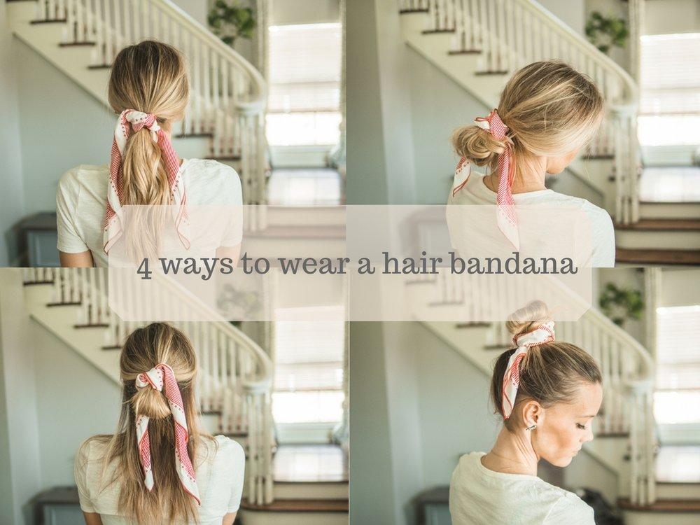 4 ways to wear a hair bandana