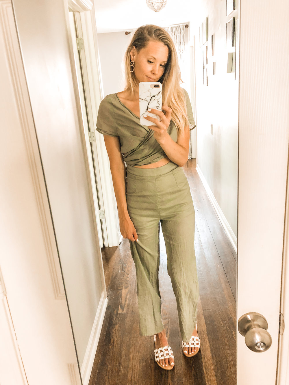 green cutout jumpsuit