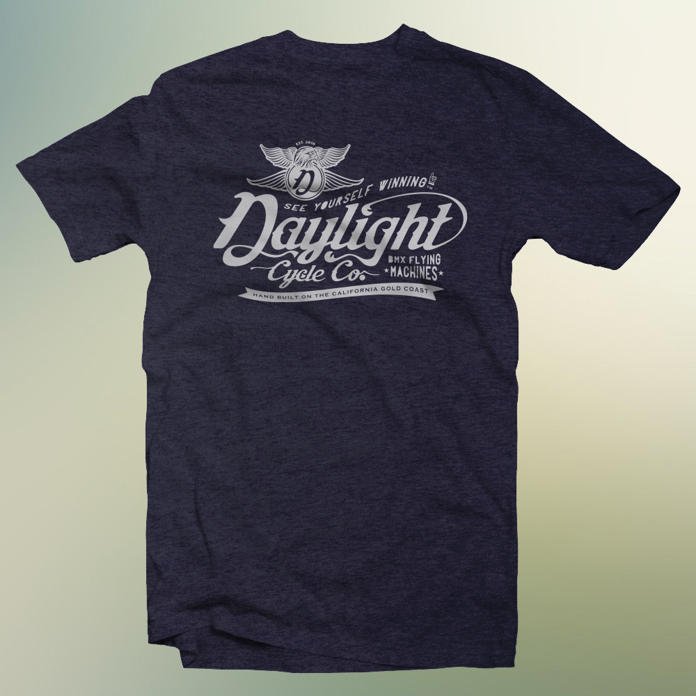 Signature Daylight T: Navy Blue Heather $25