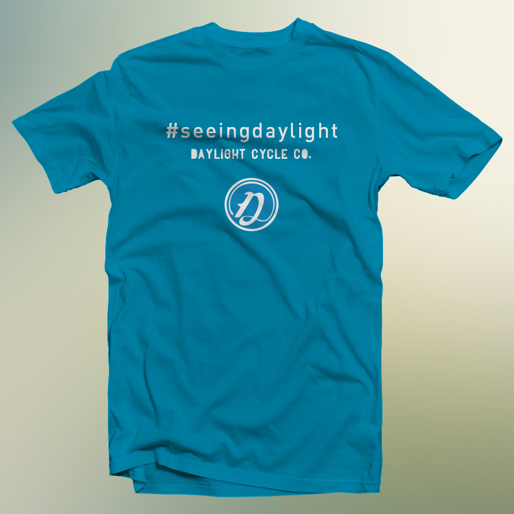 #seeingdaylight small D T: Daylight Blue / Cloud White $25