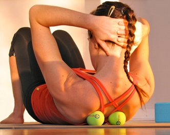 yoga core workout with tune up balls