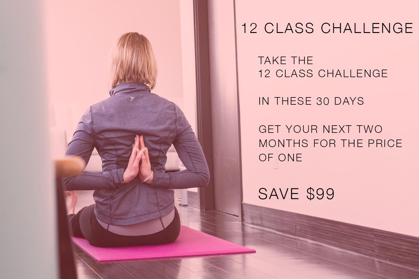Yogalife new student 12 class yoga challenge