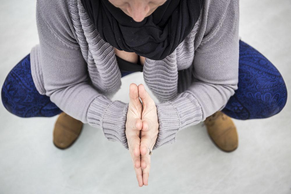 edmonton yoga malasana