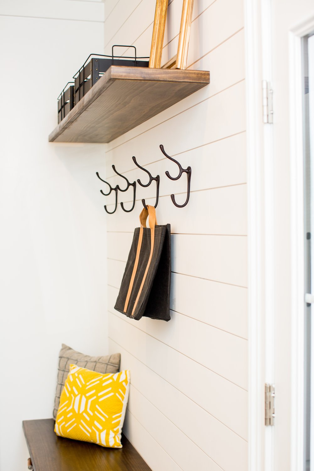 """""""She did not disappoint."""" - We engaged Kimberly to redesign our new construction pantry and mudroom and she did not disappoint. We wanted a farmhouse design and she nailed it - shiplap, barn door, etc. Kimberly is very easy to work with, provided great visuals and was involved from design phase through project completion— A.C"""