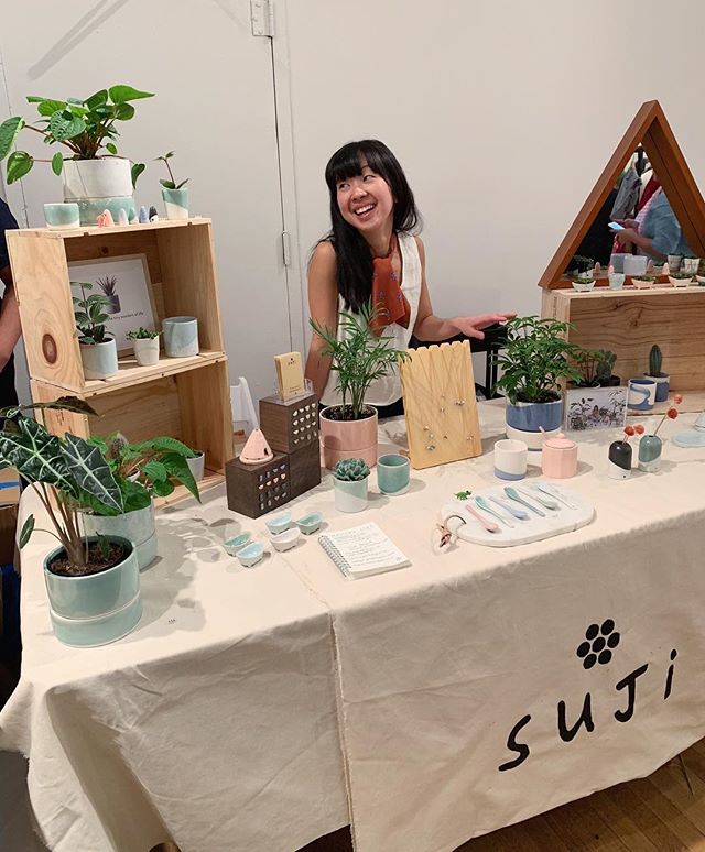 many have called me the fair maiden clay.  come see my creations, i'll be here all day! with plants and planters and plates galore. there's necklaces, earrings, and oh so much more! i wrote this small poem simply to say: i can't wait to see you at Made in Clay—TODAY! 👸🏻🌿💕 Greenwich House Pottery 16 Jones Street 12-6pm @greenwichhousepottery @sujiceramics