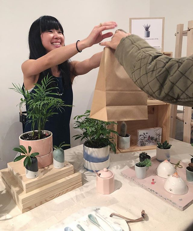 chloro-FILL those stockings with some @sujiceramics 🎄❤️ i'll be at @renegadecraft brooklyn all weekend to help you find the perfect gift for your loved ones.  P.S. would you look at all these happy customers?! just sayin, this could be you 🙃🌱 — december 22 + 23 11am - 5pm brooklyn expo center 72 noble street