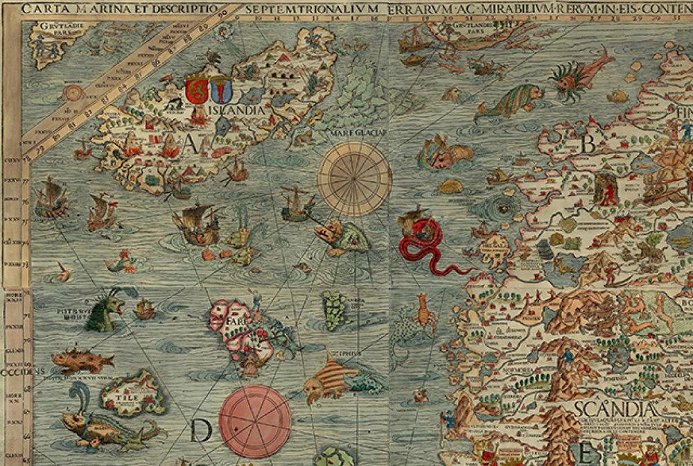 Carta marina et descriptio septentrionalium terrarum, 1539
