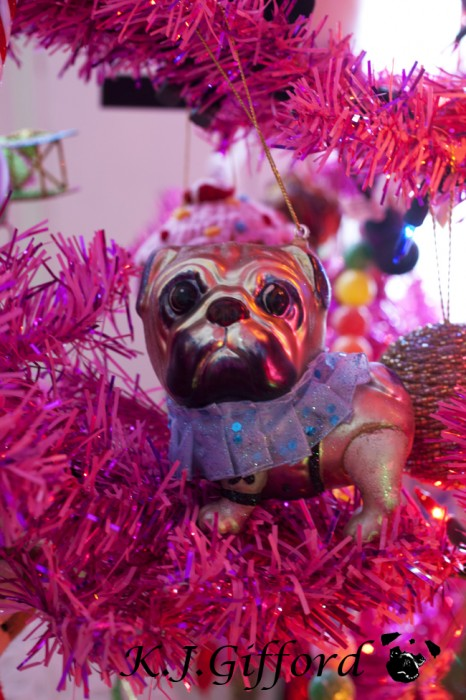 Fawn Female Pug Ornament