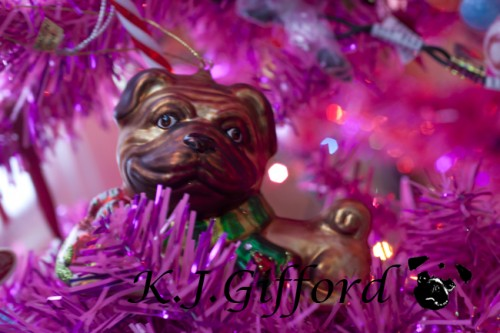 Smiling Fawn Pug Ornament