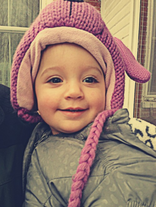 Baby in Purple Hat