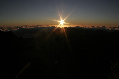 Sunrise over Haleakala, Maui Hawaii