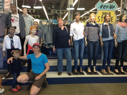 Clare, Sheila and the Mannequins from Old Navy