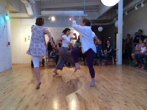 Dancers at The Artist's Childhood Exhibit, Rose Street Gallery