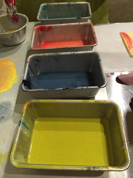 Wax pigments