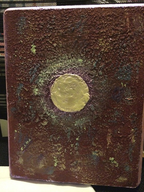 Textured encaustic painting