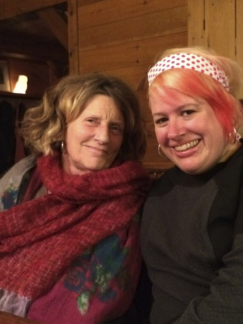 Writer Abigail Thomas and Me at Dartbrook Writers Retreat