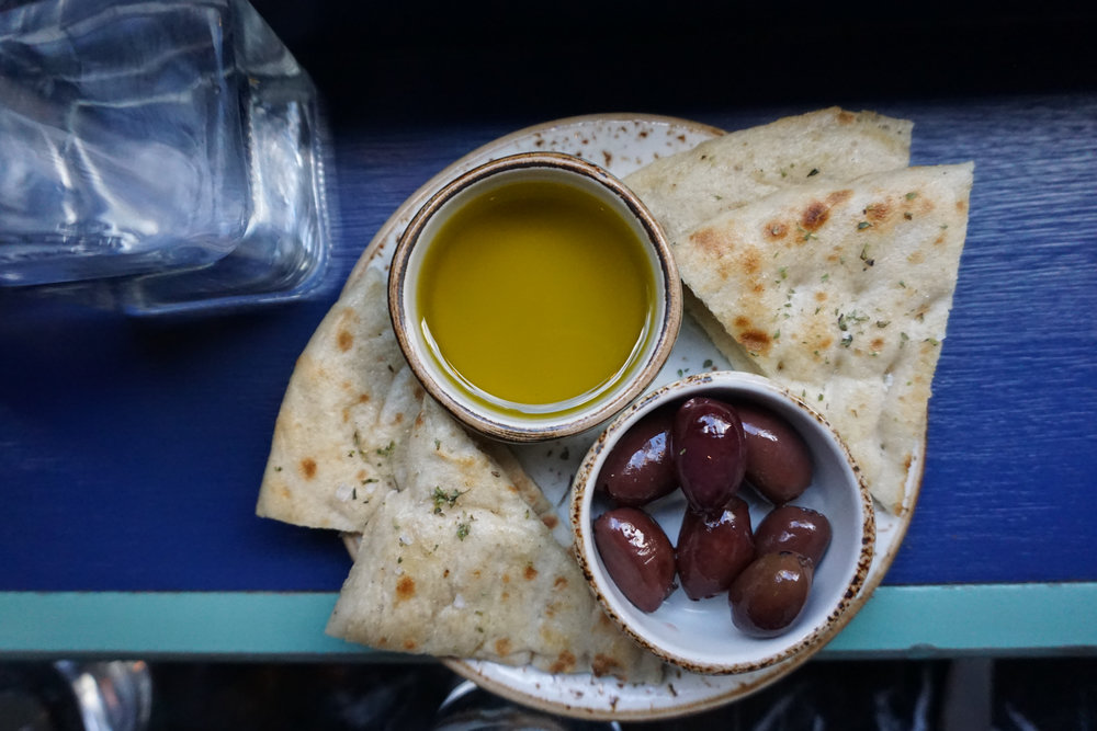 Pita and Olives