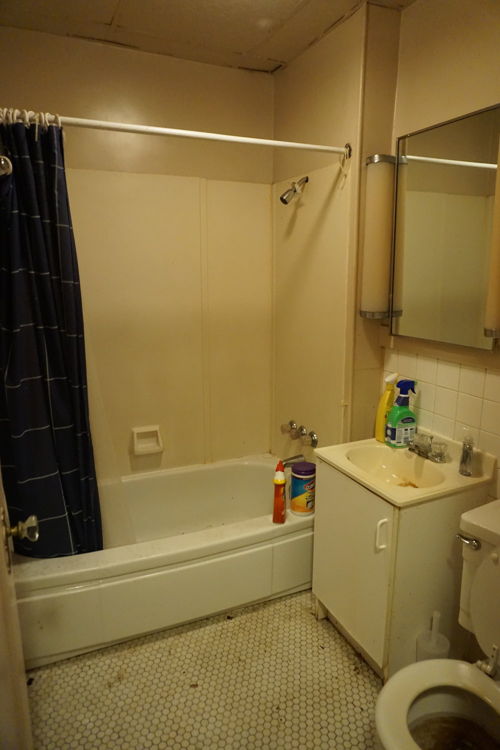 After phase 1 deep bathroom cleaning began