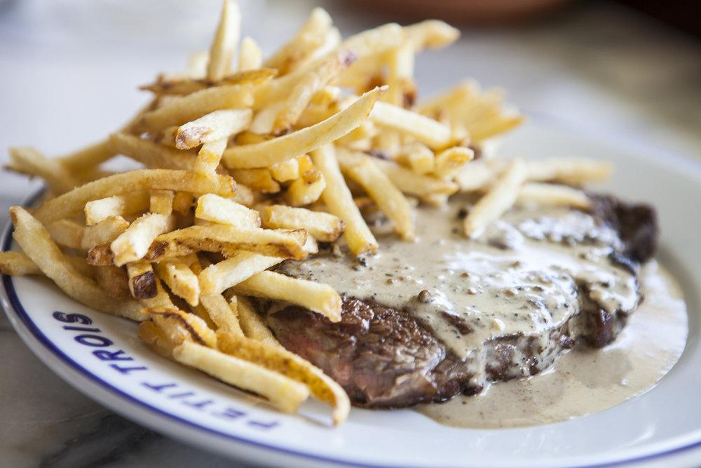 Streak frite at Petit Trois