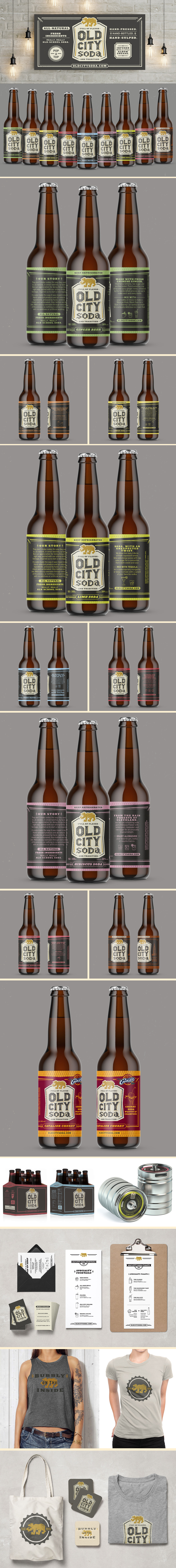 Old City Soda branding and packaging design, custom typography by Riddle Design Co. graphic design studio in Richmond, Virginia