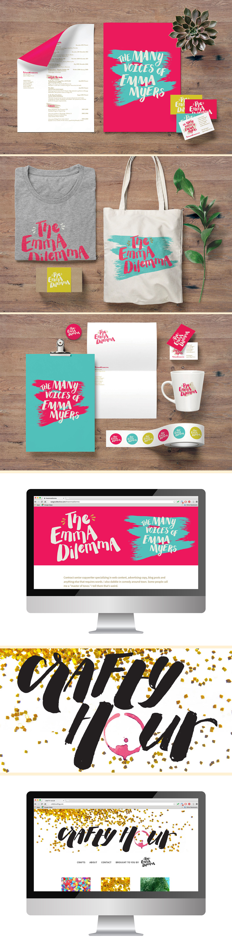 Emma Myers branding and custom typography by Riddle Design Co. a graphic design studio in Richmond, Virginia