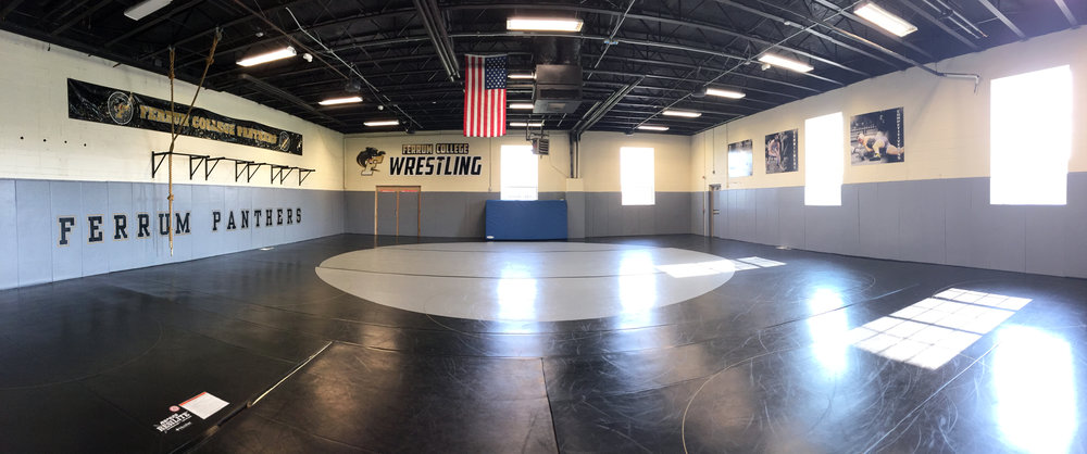Wrestling Room: Dedicated wrestling facility with state-of-the-art foam supported mat providing superior training environment and reducing injuries. The wrestling room inclues pull-up bars, throwing dummies and climing ropes to help get you to the next level.