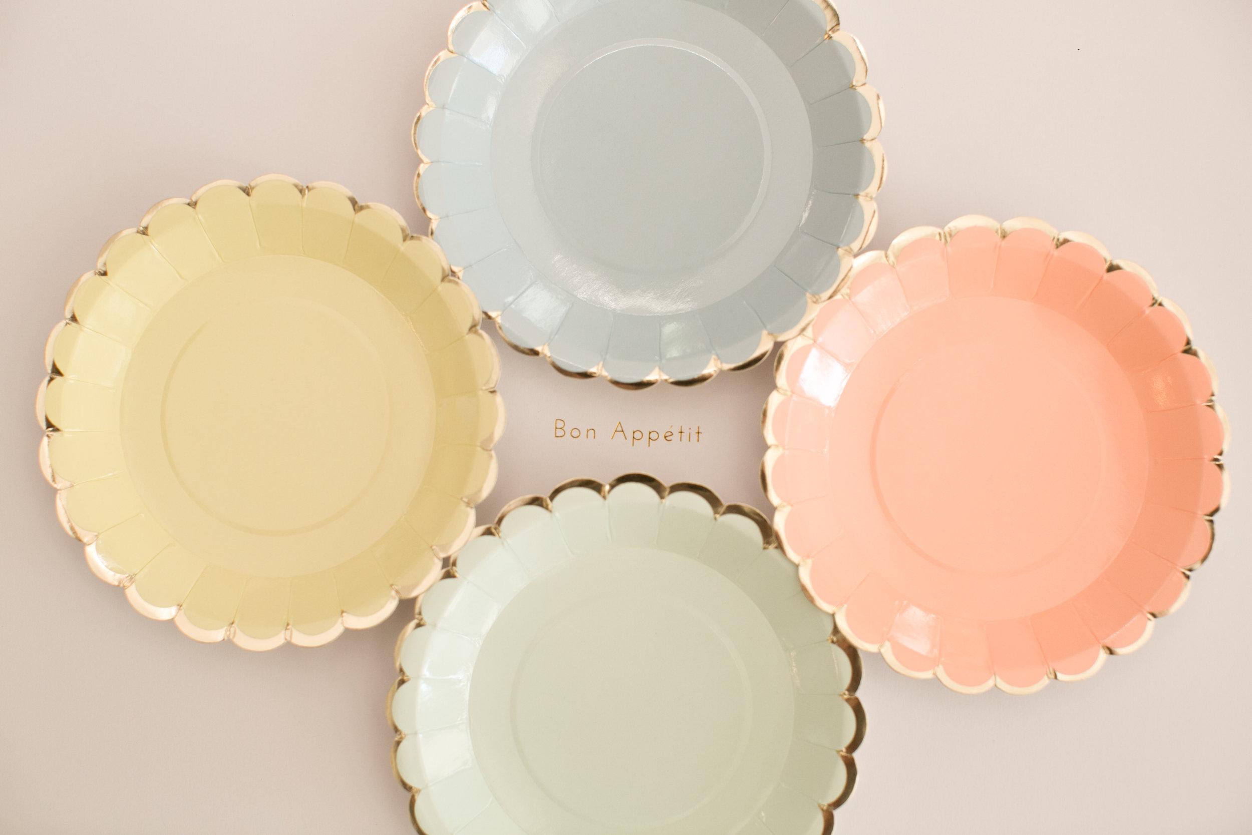 & Scalloped Pastel Mini Plate \u2014 White Lilac Inc.