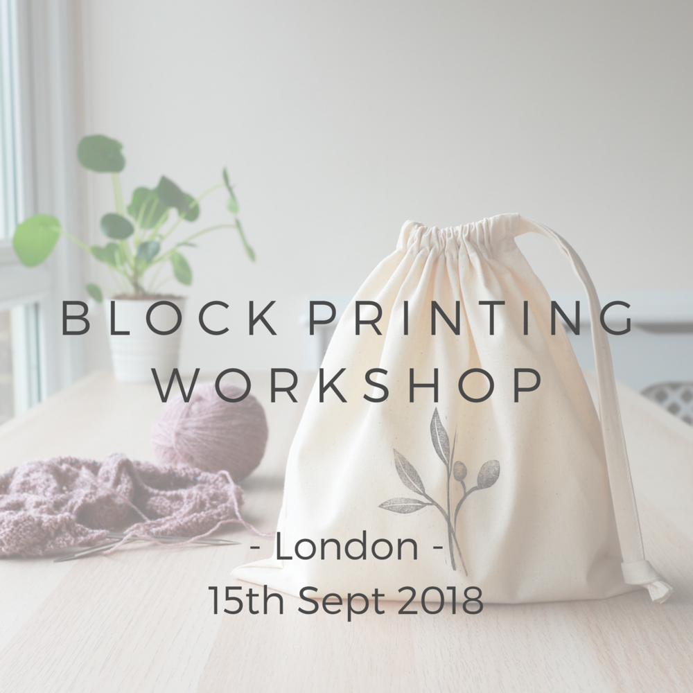 Block Printing Workshop with Alex Collins 2018 West London