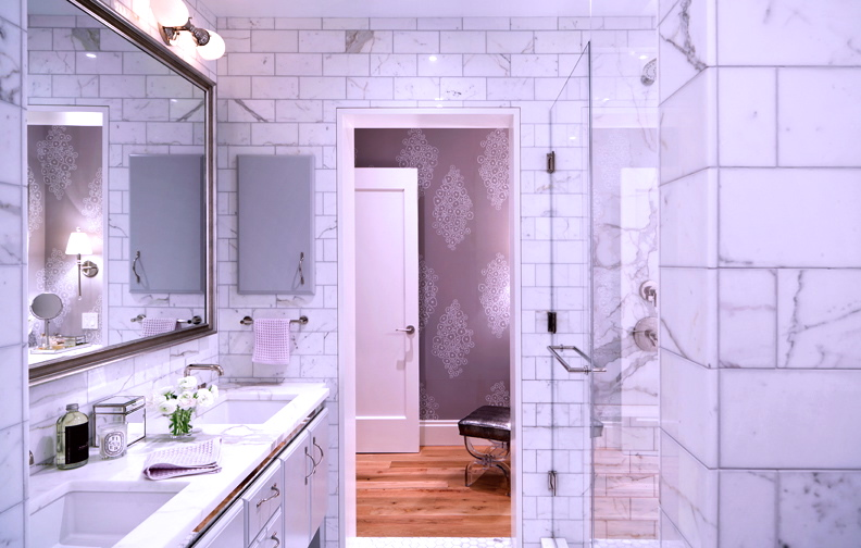 Sixty Eight in lavender gray, photo courtesy of Damon Liss Design NYC.
