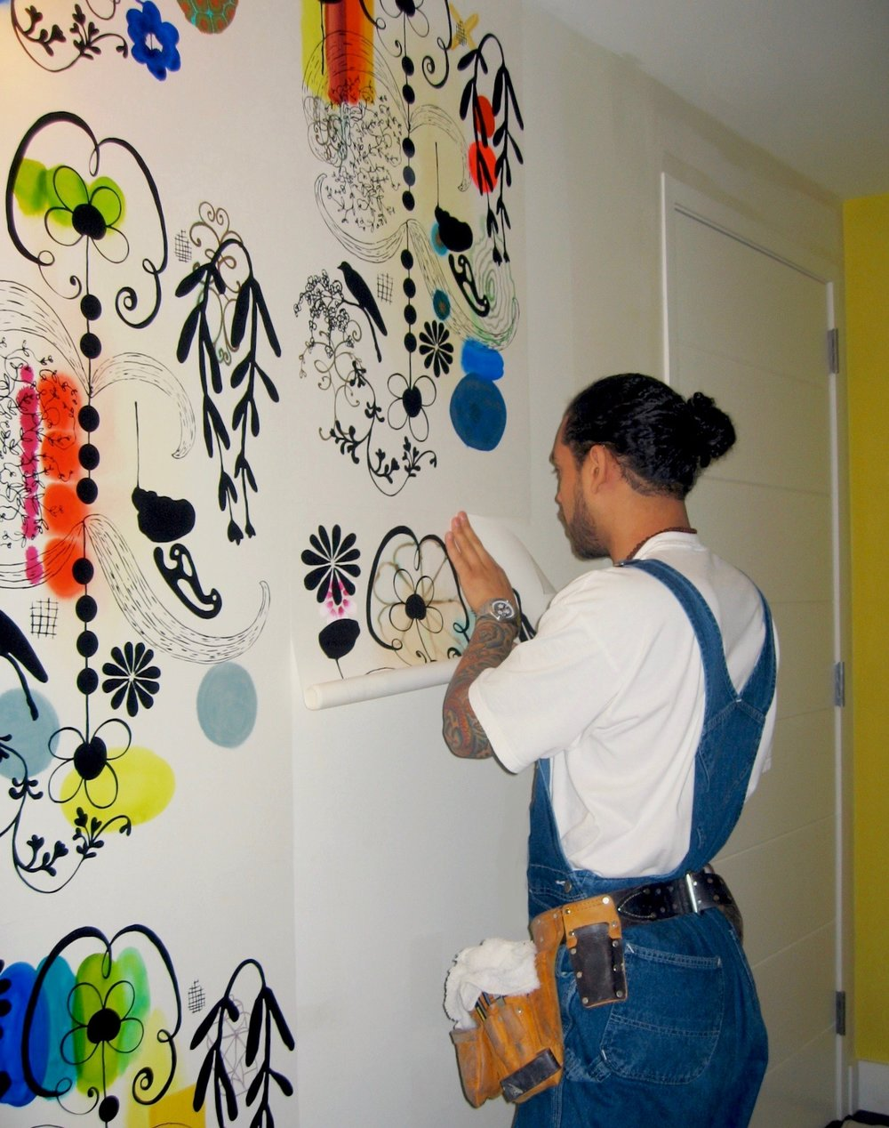 FRENCH DOT full wall installation. Paper install and photo thanks to EloquentTouch.com NYC