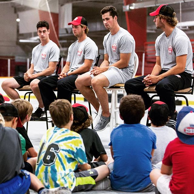Q&A session with campers and parents #larkinhockeyschool