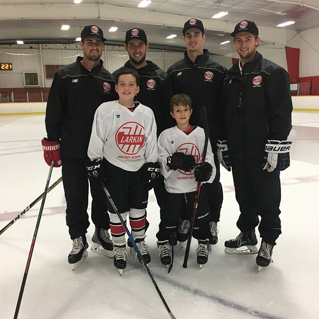 The family that skates together, stays together!! #larkinhockeyschool