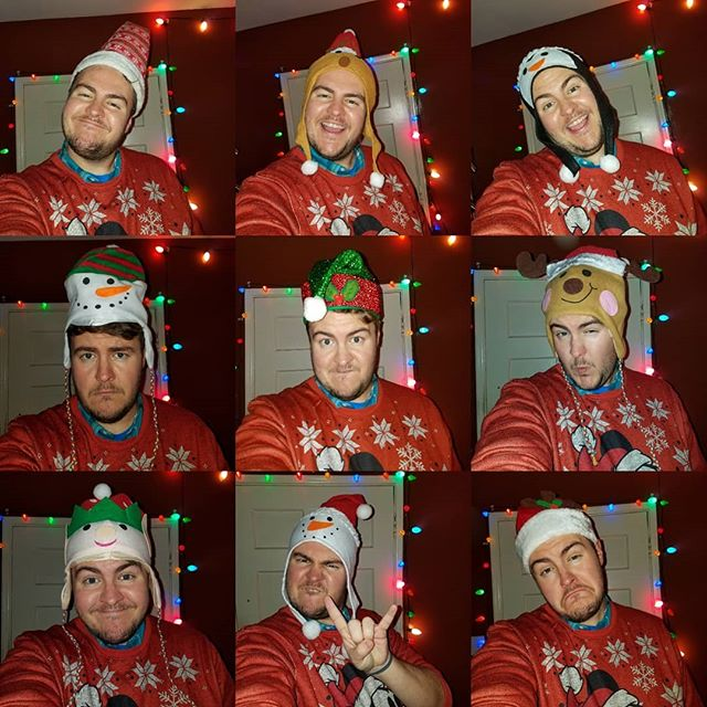 I tried on EVERY Christmas hat from the 99 Cent Store!!! #99centstore #holidayseason #holidayparty #santahat #christmasparty #fireballwhisky #eggnog