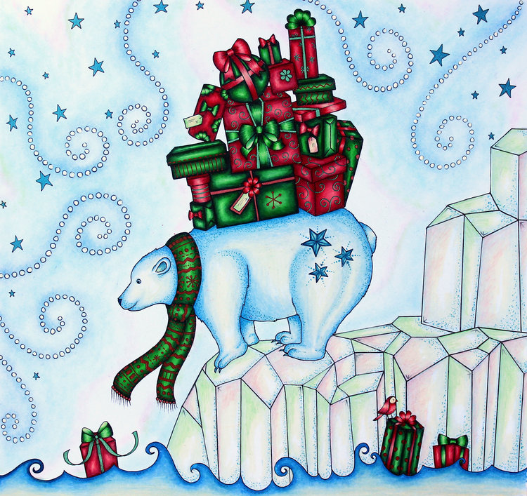 Coloring: Johanna\'s Christmas by Johanna Basford — Emily Illustrator
