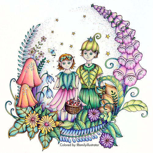 Illustrations I Have Colored From Johanna Basfords Book Ivy And The Inky Butterfly