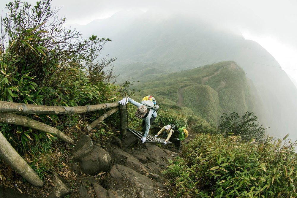 THIS intensely difficult 6 1/2 hour climb up Fansipan in Sapa, Vietnam.  Photo cred:  Jay Harrison
