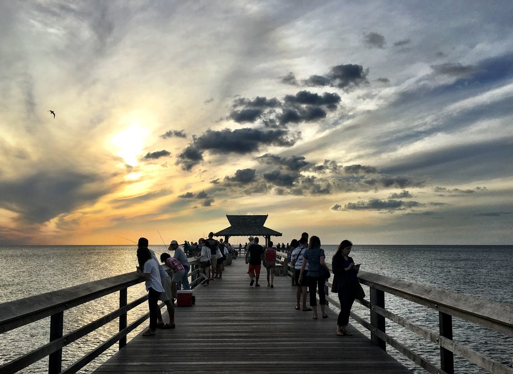 Taking a sunset walk after a conference in Naples, Florida