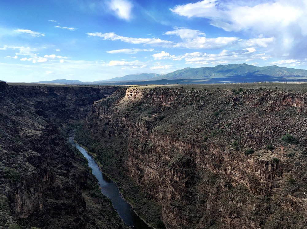 Trail running around the Rio Grande Gorge in Taos, New Mexico
