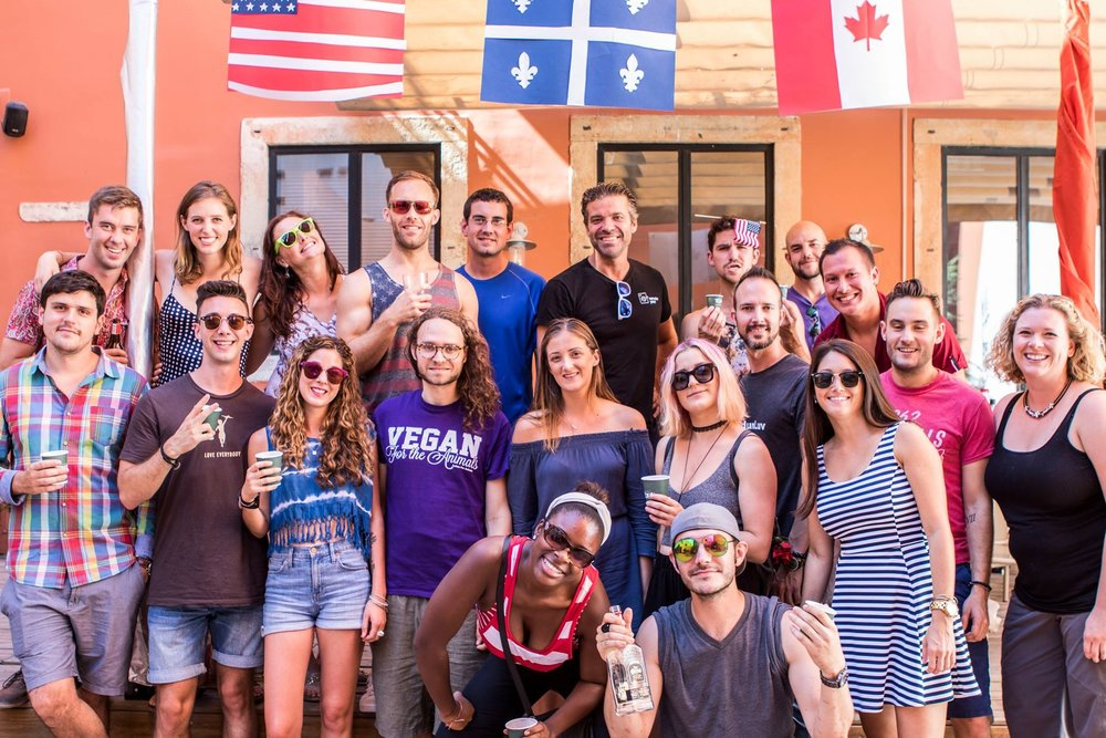 Celebrating the 4th of July and Canada Day in Portugal with my Remote Year crew.  Photo courtesy of Jay Harrison (www.jayjayharrison.com)